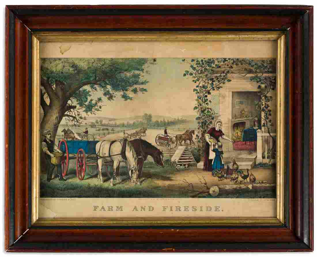 CURRIER & IVES. Farm and Fireside.