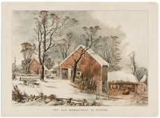 CURRIER & IVES; after G.H. Durrie. The Old Homestead in