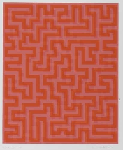 2036001: ANNI ALBERS Red Meander.