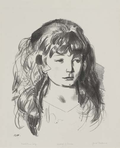 2036018: GEORGE BELLOWS Sketch of Anne.