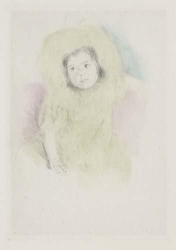 2036217: MARY CASSATT Margot Wearing a Bonnet (No. 1).