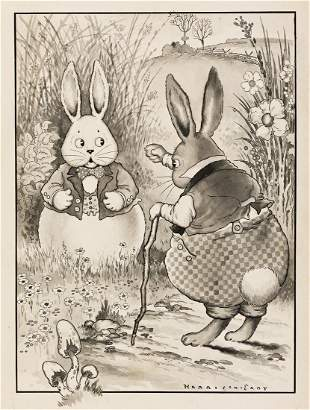 """HARRISON CADY (1877-1970) """"Peter Rabbit was very"""