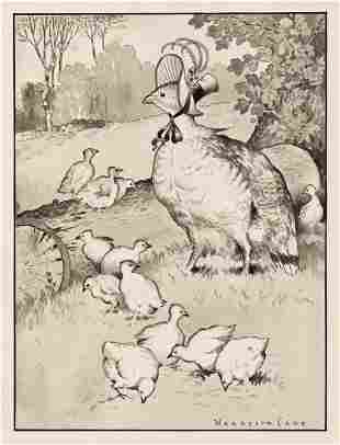 """HARRISON CADY (1877-1970) """"Mother Grouse Knew there"""