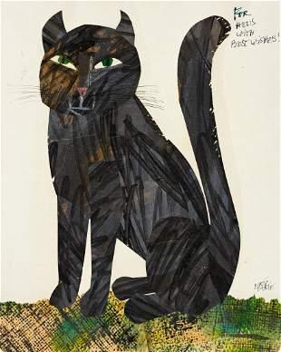ERIC CARLE (1929- ) Black Cat. [CHILDRENS]