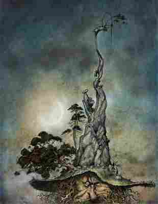 """BRIAN FROUD (1947- ) """"The Mountain."""" [CHILDRENS /"""