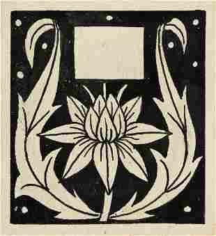 "AUBREY BEARDSLEY (1872-1898) ""Flower flanked by"