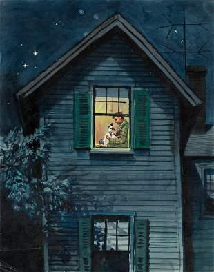 """STEVAN DOHANOS (1907-1994) """"2:00 Feeding."""" [COVER ART /"""