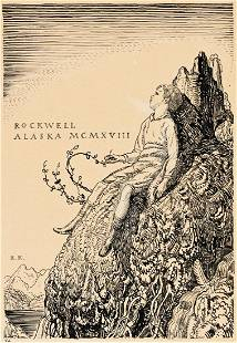"ROCKWELL KENT (1882-1971) ""Rockwell / Alaska MCMXVIII"""