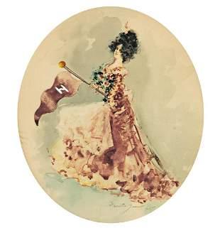 HENRIETTA DUNN MEARS (1877-1970) The Harvard Girl.
