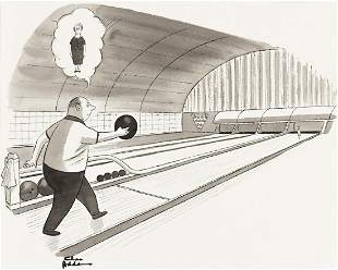 CHARLES ADDAMS (1912-1988) One Pin. [CARTOONS / NEW