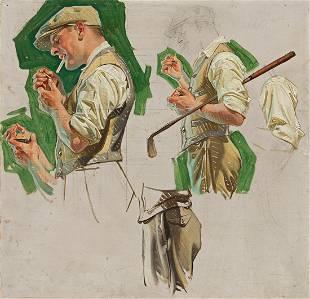 JOSEPH CHRISTIAN LEYENDECKER (1874-1951) Golfer