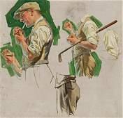 JOSEPH CHRISTIAN LEYENDECKER 18741951 Golfer