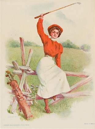 "MAUD HUMPHREY (1868-1940) ""The Golf Girl."" [GRAPHICS /"