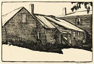 HOWARD COOK (1901-1980) Two woodcuts.