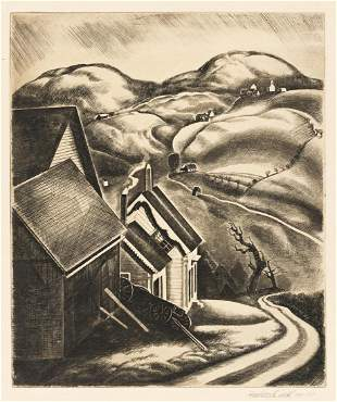 HOWARD COOK (1901-1980) Two etchings.