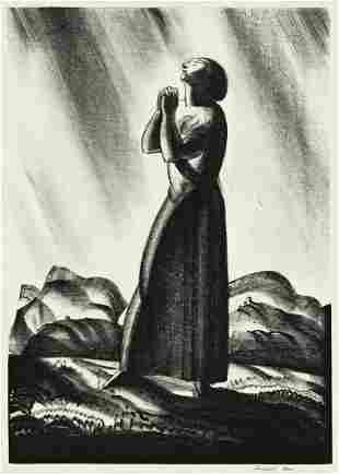 ROCKWELL KENT (1882-1971) Meditation.