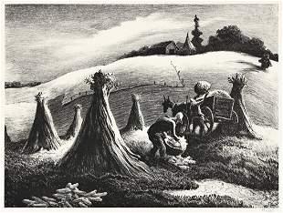 THOMAS HART BENTON (1889-1975) Loading Corn.