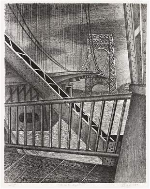 LEON BIBEL (1913-1995) G.W. Bridge.