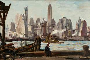 REGINALD MARSH (1898-1954) The Waterfront, New York.