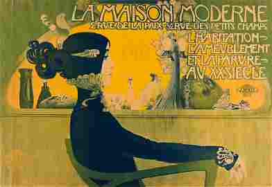 MANUEL ORAZI (1860-1934).  LA MAISON MODERNE. 1900.