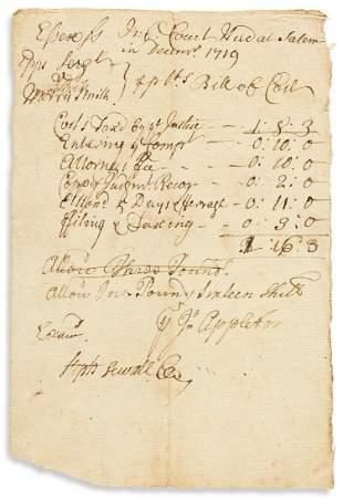 "SEWALL, STEPHEN. Document Signed, ""Steph Sewall"