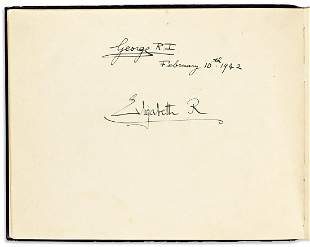 (ALBUM--WORLD WAR II.) Guest book from the American