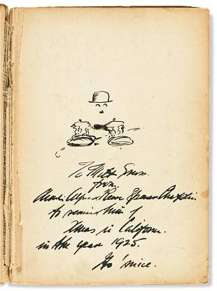CHAPLIN, CHARLIE. My Trip Abroad. Signed and Inscribed,
