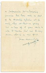 "GANDHI, MOHANDAS K. Letter Signed, ""MKGandhi,"" to"