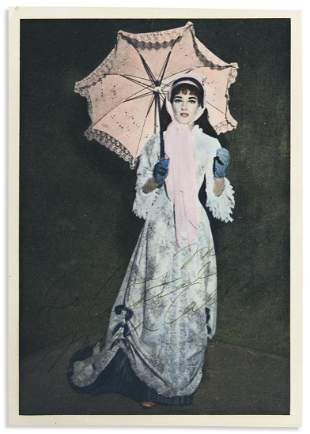 CALLAS, MARIA. Hand-tinted Photograph Signed and