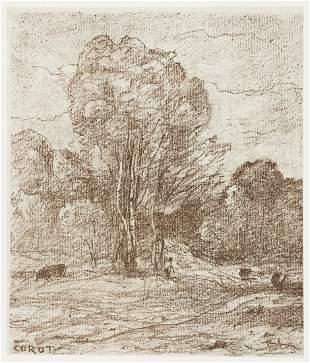 JEAN-BAPTISTE-CAMILLE COROT Le Dormoir des Vaches.