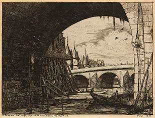 CHARLES MERYON L'Arche du Pont Notre-Dame.