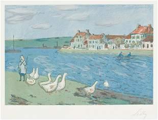 ALFRED SISLEY Les Bords de Rivière (Les Oies).