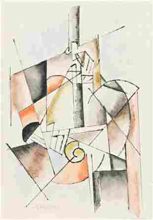 ALBERT GLEIZES Composition Cubiste.