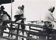 (LEWIS W. HINE) (1874-1940) Immigrants landing at Ellis
