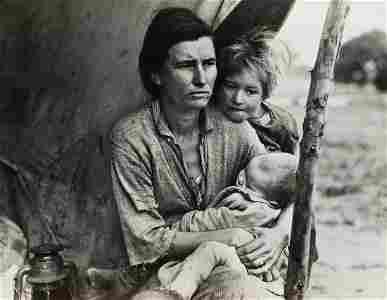 DOROTHEA LANGE (1895-1965) Migrant Mother (horizontal).
