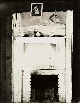 WALKER EVANS (1903-1975) Fireplace and Objects in Floyd