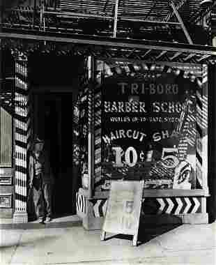 BERENICE ABBOTT (1898-1991) Tri-Boro Barber Shop.