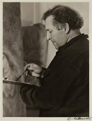 LOTTE JACOBI (1896-1990) Marc Chagall at work.