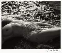 LUCIEN CLERGUE (1934-2014) Nude in the sea.