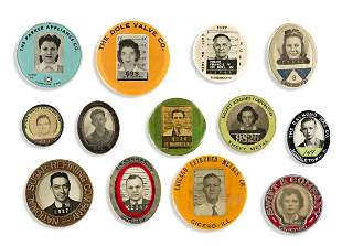 (EMPLOYEE I.D. BADGES) A group of 32 identification