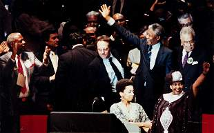 (NELSON MANDELA) A collection of 6 images depicting