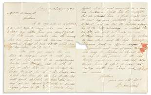 (SLAVERY AND ABOLITION.) William & Samuel Hinde. Letter