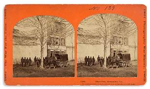 (SLAVERY AND ABOLITION.) Stereoview of the infamous