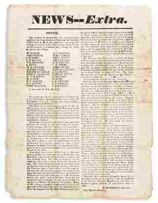 (SLAVERY AND ABOLITION.) Broadside announcing the
