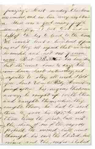 (SLAVERY AND ABOLITION.) Jasper L. Hall. Letter