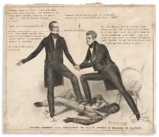 (SLAVERY AND ABOLITION.) Senate Chamber U.S.A.
