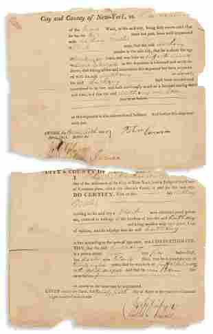 (SLAVERY AND ABOLITION.) Certificate of freedom issued