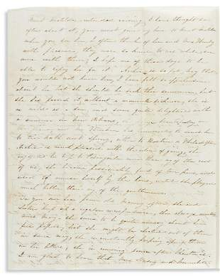 (SLAVERY AND ABOLITION.) Letter discussing a manumitted