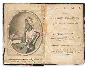 (LITERATURE.) Phillis Wheatley. Poems on Various