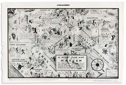 (MUSIC.) E. Simms Campbell, artist. A Night-Club Map of